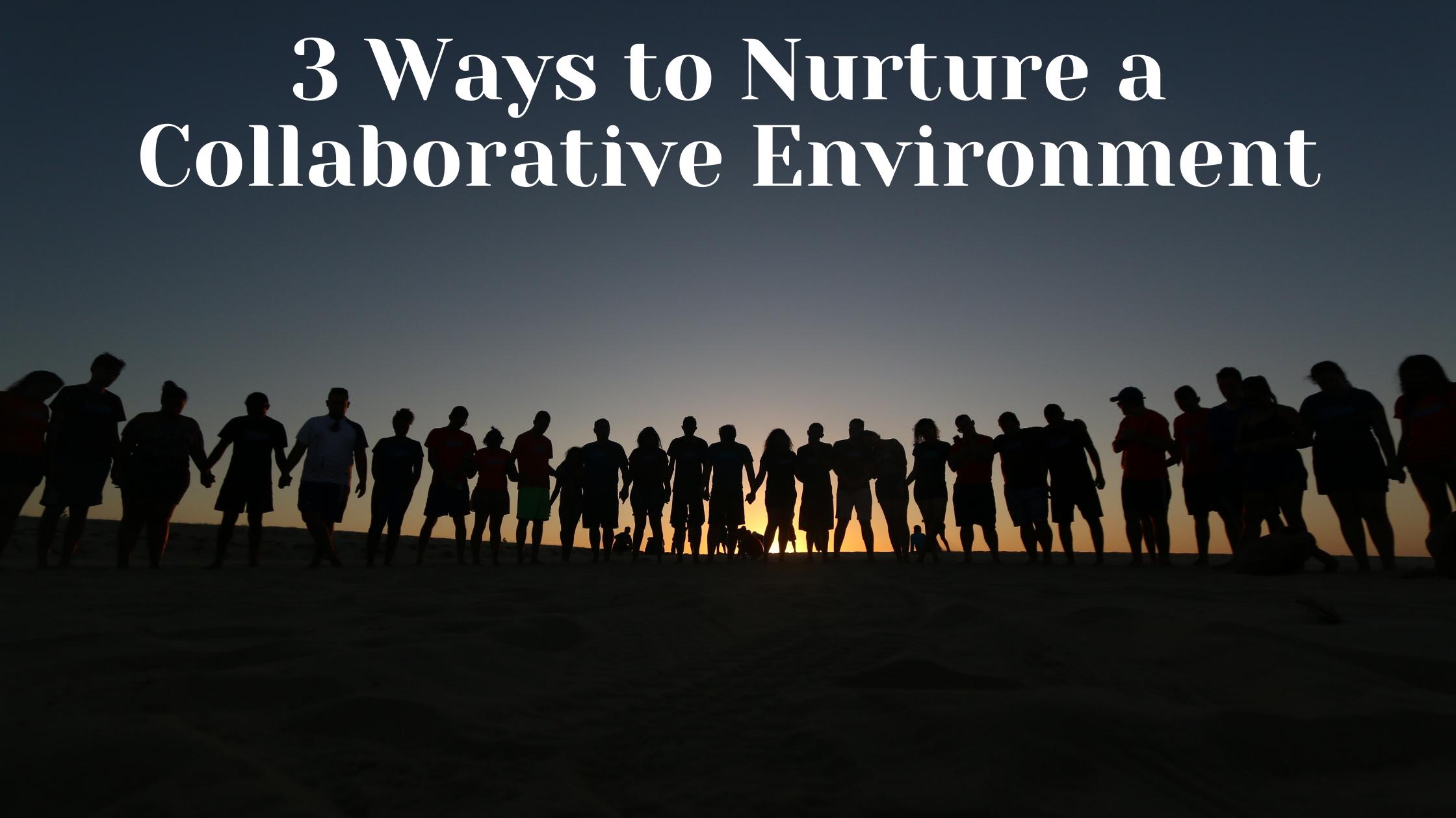 3 Ways to Nurture a Collaborative Environment